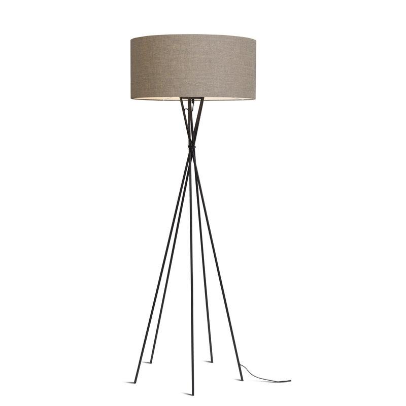 it's about RoMi-collectie Vloerlamp Lima zwart/kap 6030 d.linnen
