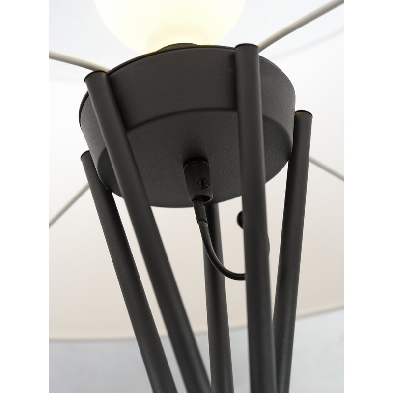 it's about RoMi-collectie Floor lamp Lima black/shade 6030 d.linen