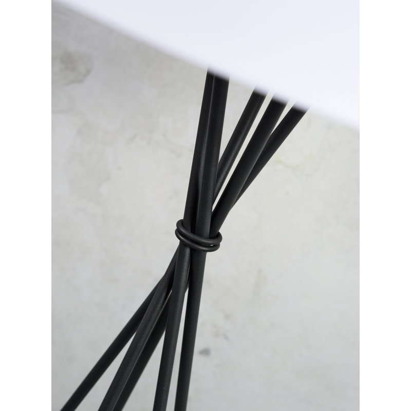 it's about RoMi-collectie Floor lamp Lima black/shade 6030 l.grey