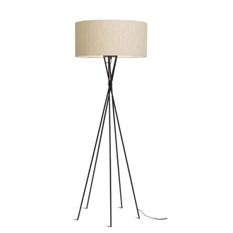 it's about RoMi Floor lamp Lima black/shade 6030 l.linen