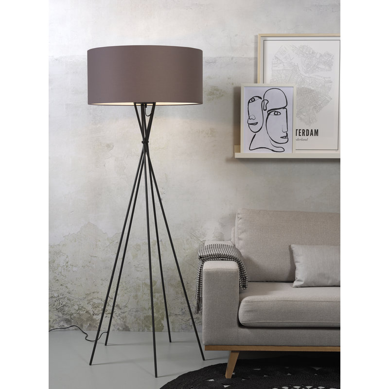 it's about RoMi-collectie Floor lamp Lima black/shade 6030 sand grey