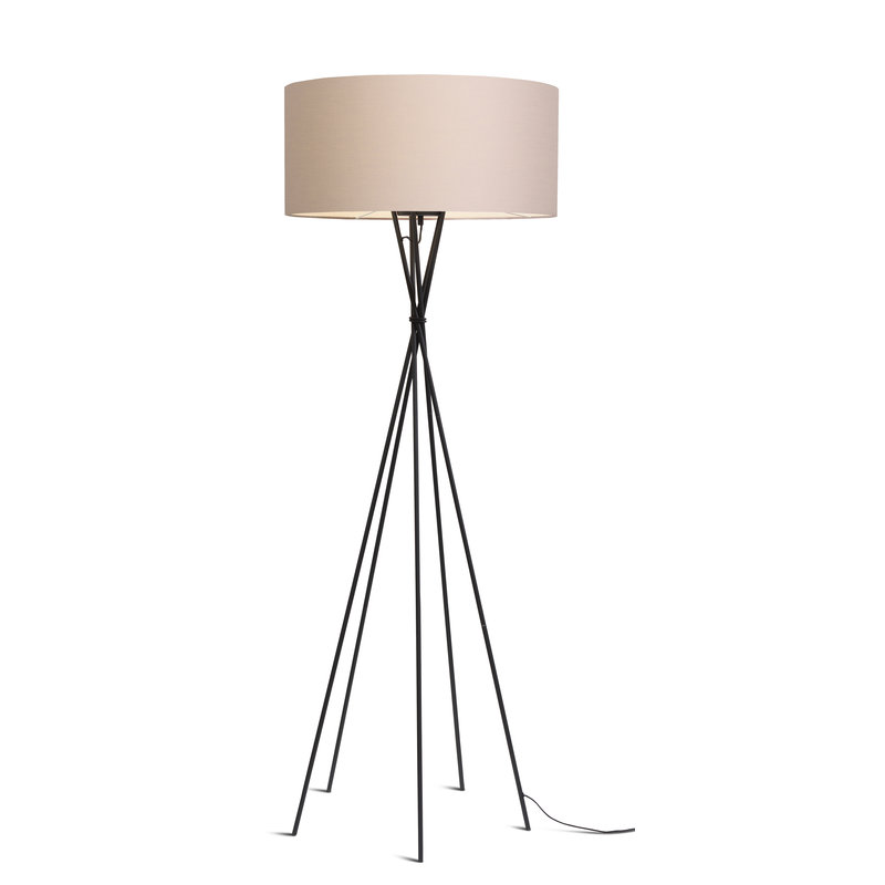 it's about RoMi-collectie Vloerlamp Lima zwart/kap 6030 taupe