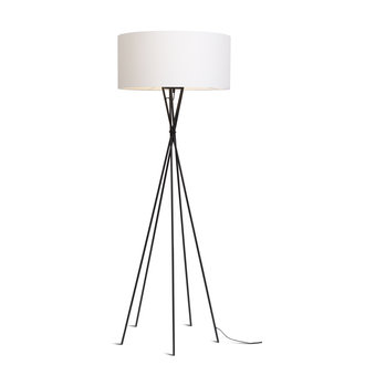 it's about RoMi Floor lamp Lima black/shade 6030 white