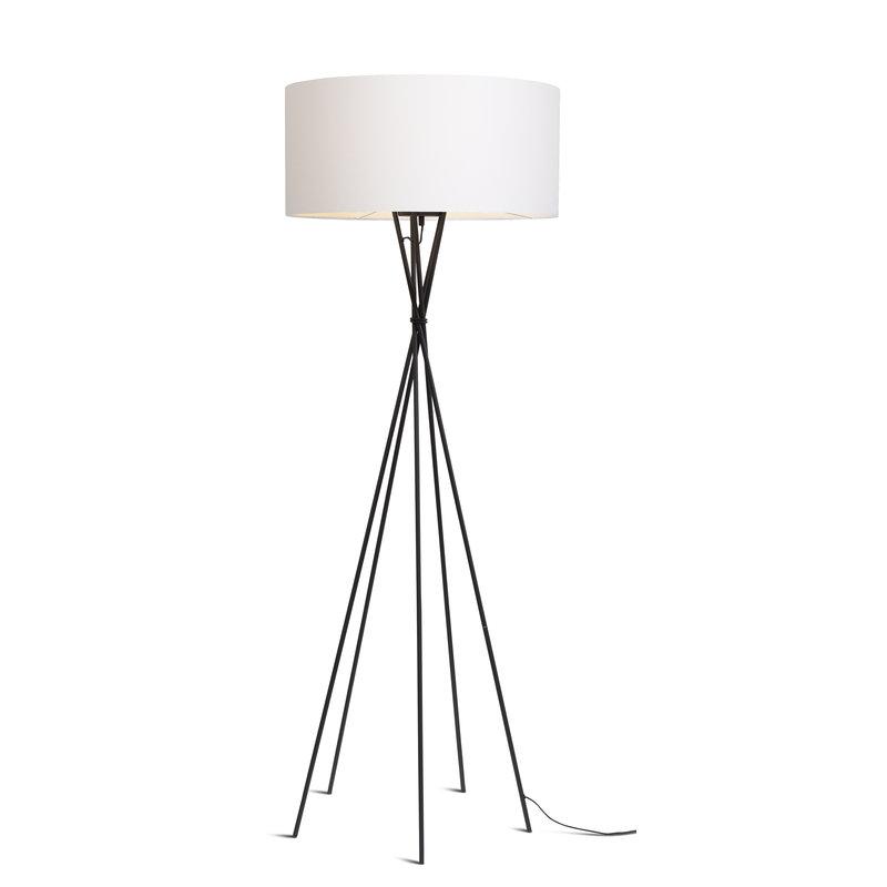 it's about RoMi-collectie Vloerlamp Lima zwart/kap 6030 wit