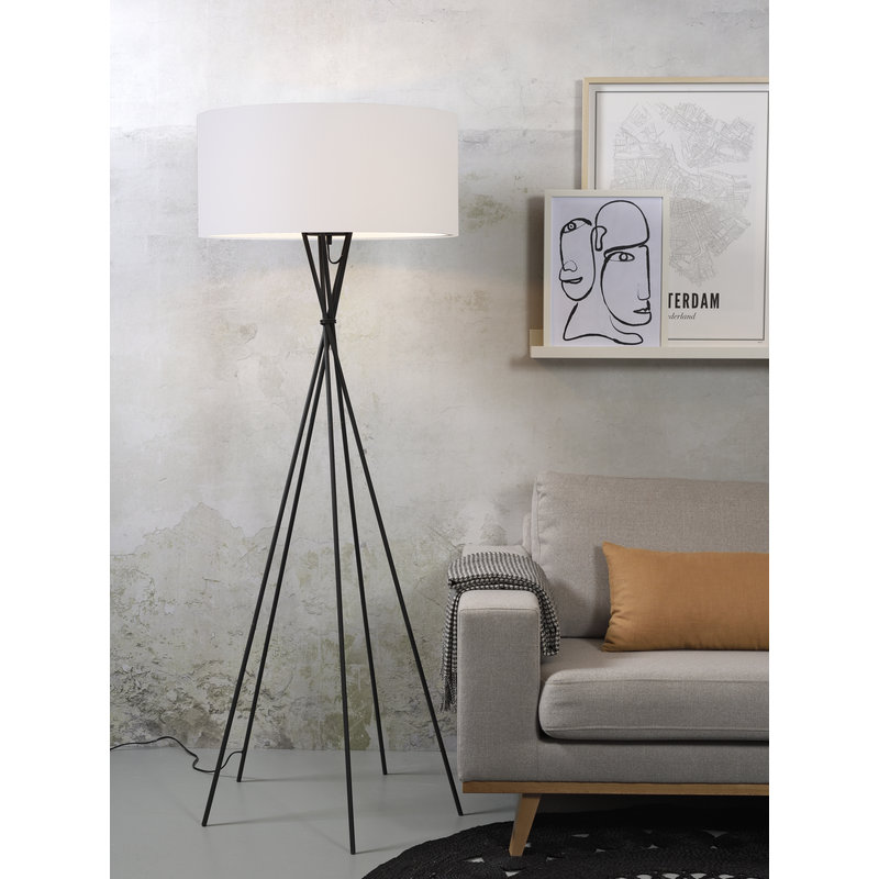 it's about RoMi-collectie Floor lamp Lima black/shade 6030 white