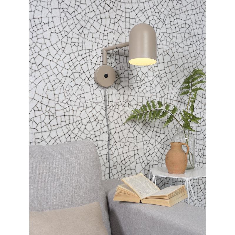 it's about RoMi-collectie Wandlamp ijzer Marseille zand