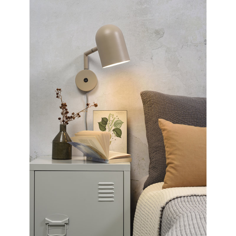 it's about RoMi-collectie Wall lamp iron Marseille sand