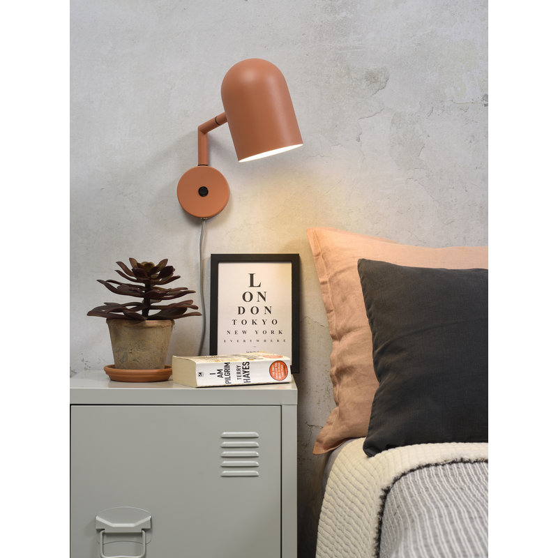 it's about RoMi-collectie Wall lamp iron Marseille terra