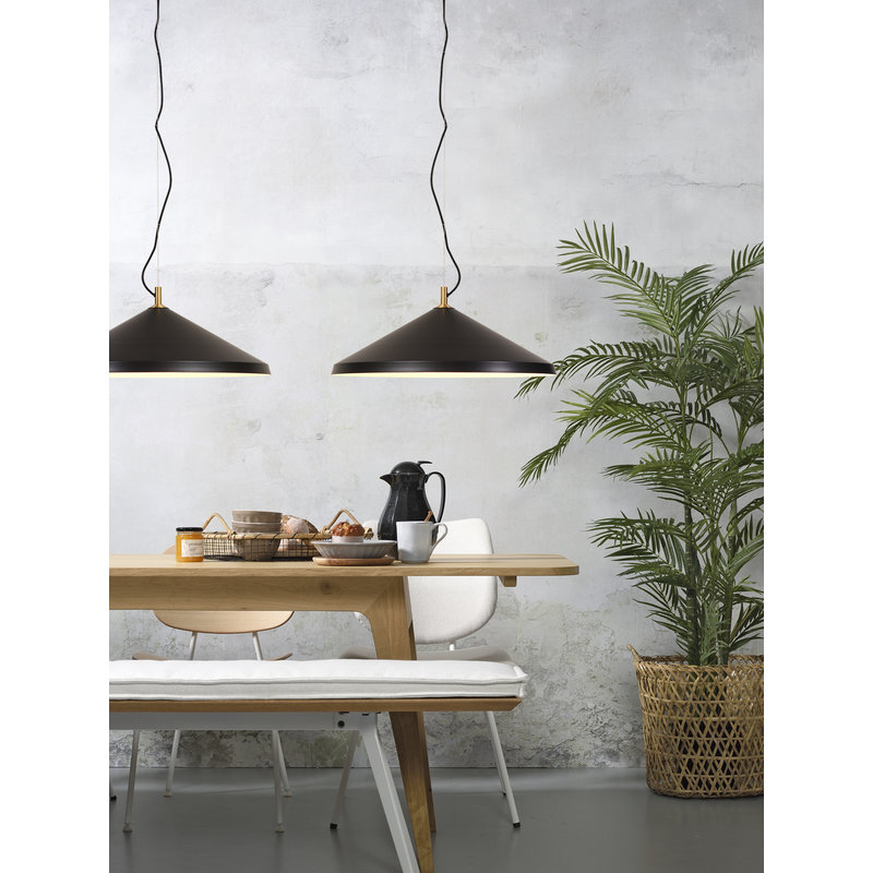 it's about RoMi-collectie Hanglamp alu/messing Montreux zwart