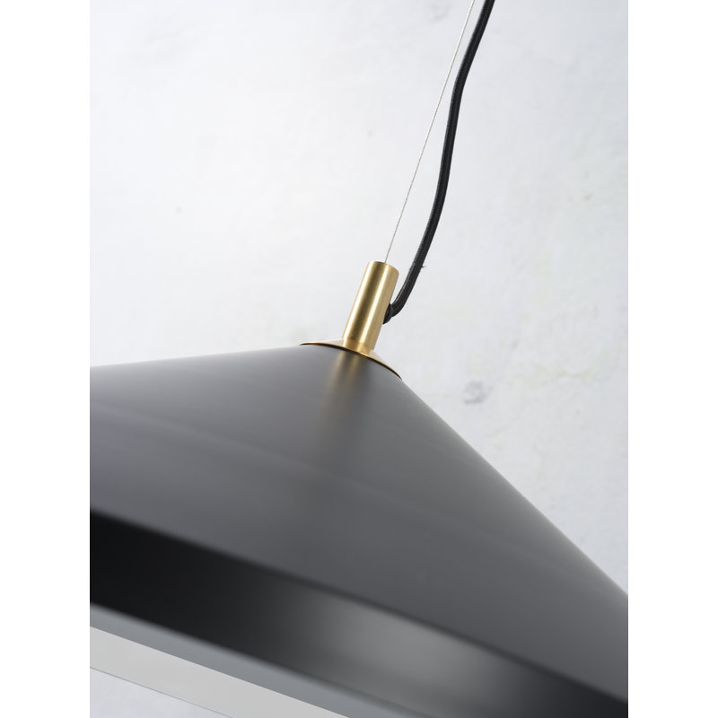 it's about RoMi-collectie Hanging lamp alu/messing Montreux black