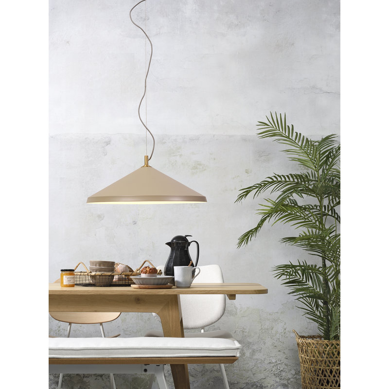 it's about RoMi-collectie Hanglamp alu/messing Montreux zand