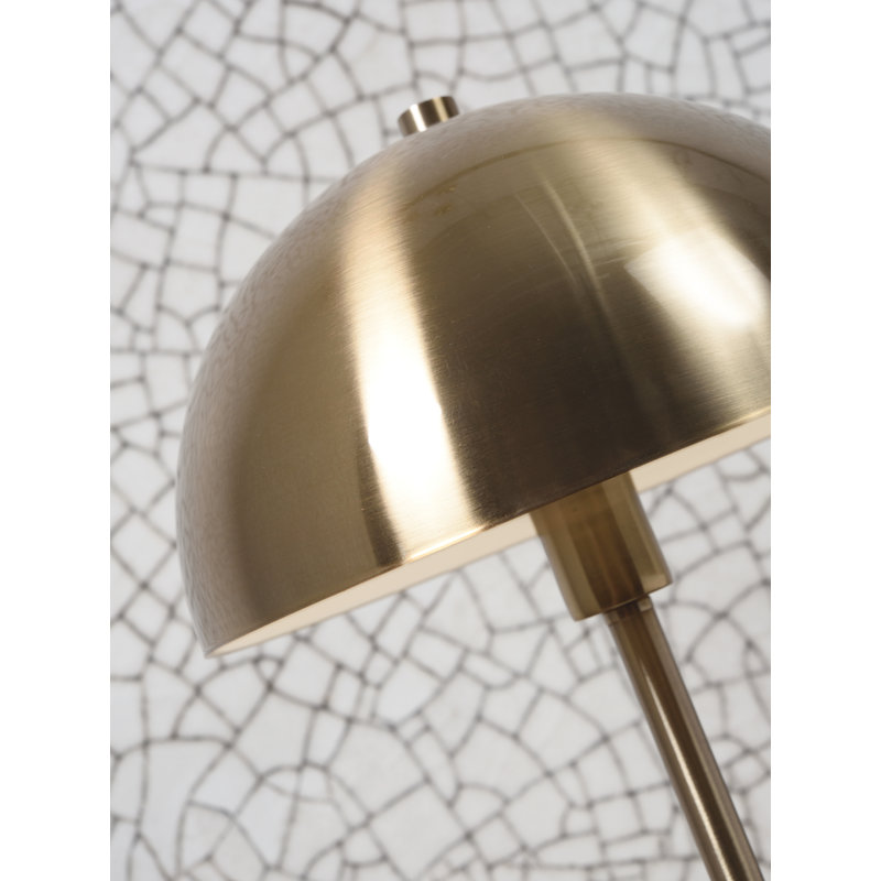 it's about RoMi-collectie Floor lamp iron/marble Toulouse white/gold