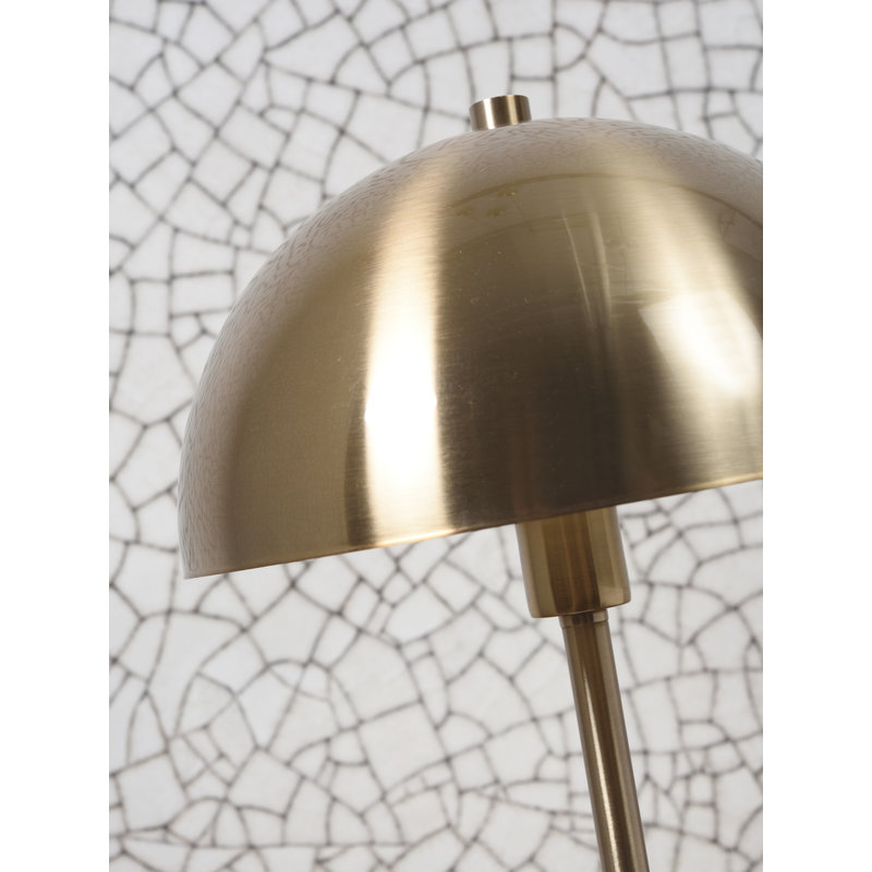 it's about RoMi-collectie Vloerlamp ijzer/marmer Toulouse wit/goud