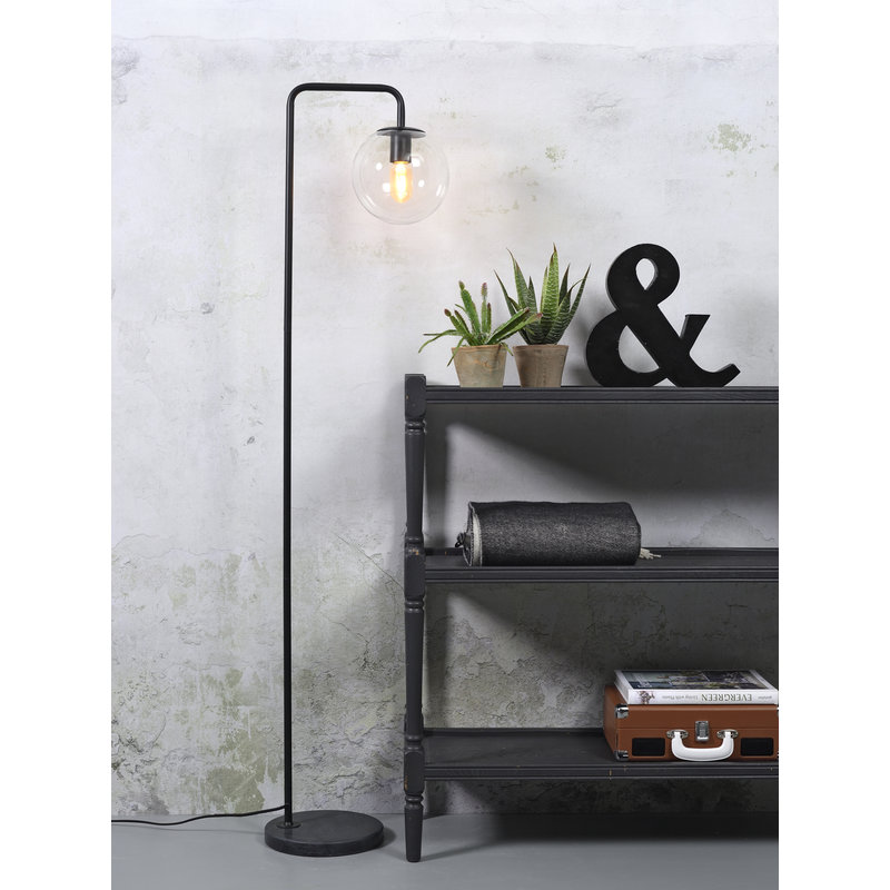 it's about RoMi-collectie Floor lamp iron/glass Warsaw black