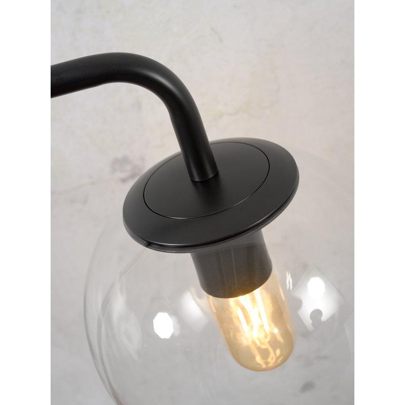 it's about RoMi-collectie Vloerlamp ijzer/glas Warsaw zwart