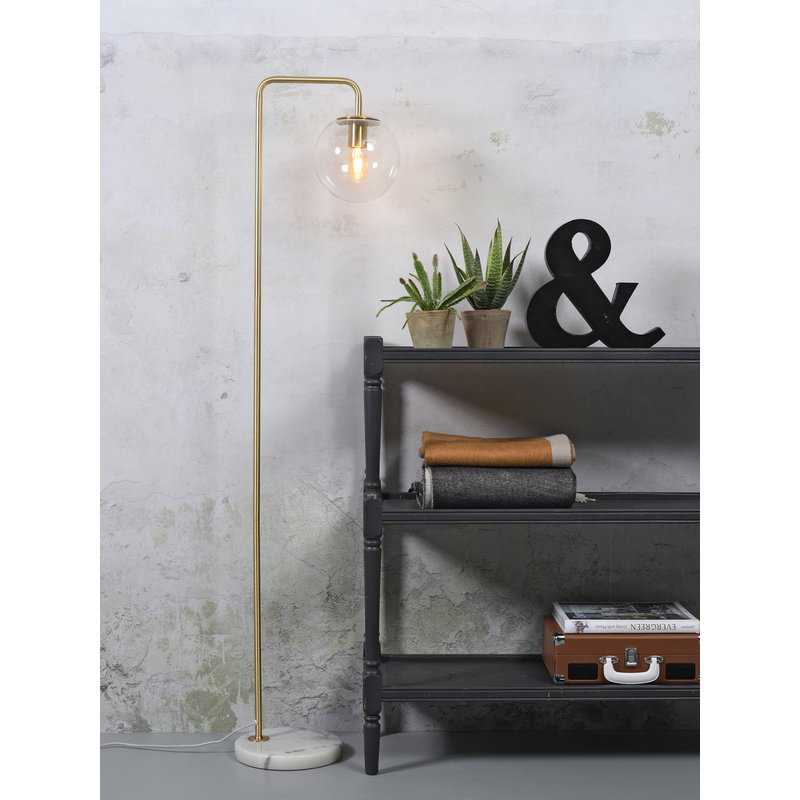 it's about RoMi-collectie Floor lamp iron/glass Warsaw gold