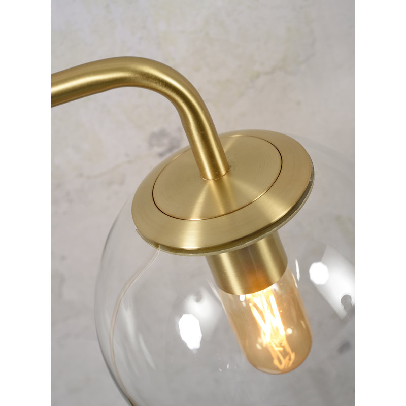 it's about RoMi-collectie Vloerlamp ijzer/glas Warsaw goud