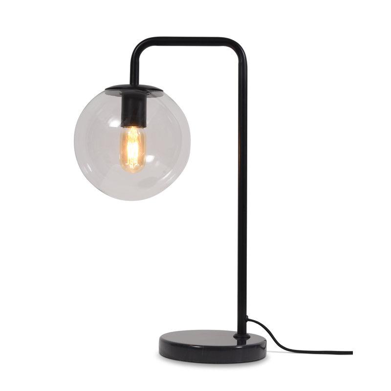 it's about RoMi-collectie Tafellamp ijzer/glas Warsaw zwart