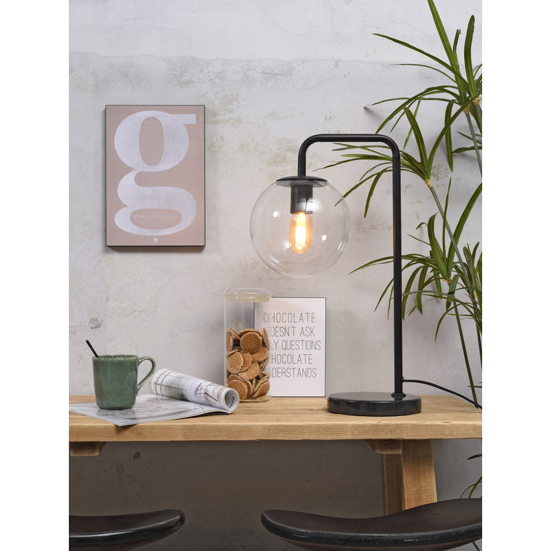 it's about RoMi-collectie Table lamp iron/glass Warsaw black