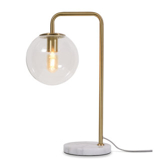 it's about RoMi Table lamp iron/glass Warsaw gold