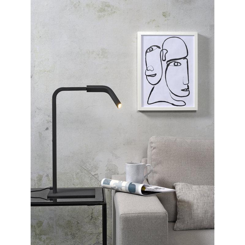 it's about RoMi-collectie Tafellamp ijzer Zurich LED zwart