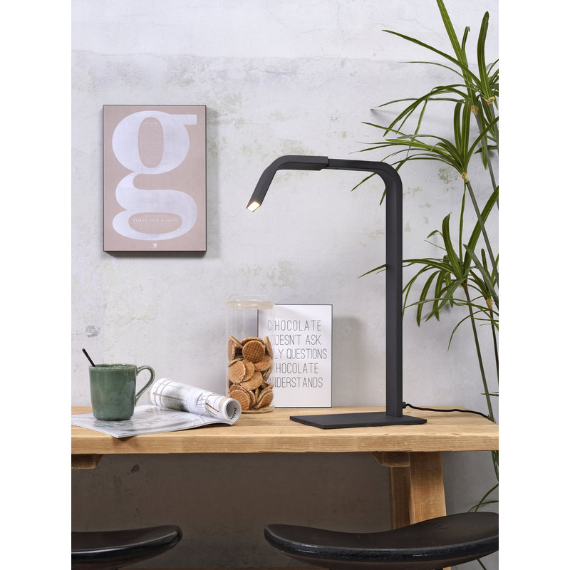 it's about RoMi-collectie Table lamp iron Zurich LED black