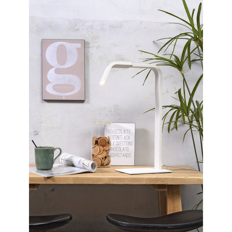 it's about RoMi-collectie Table lamp iron Zurich LED white