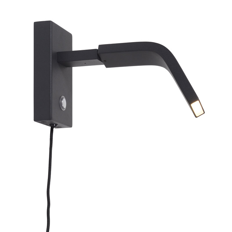 it's about RoMi-collectie Wall lamp iron Zurich LED black