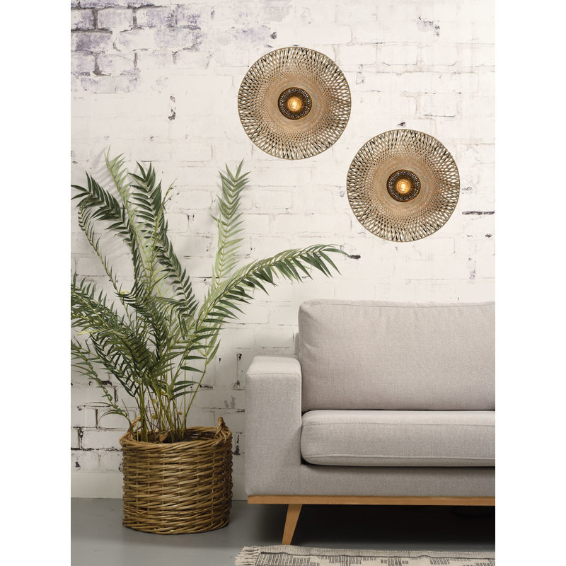 it's about RoMi-collectie Wandlamp Kalimantan bamboe plat S