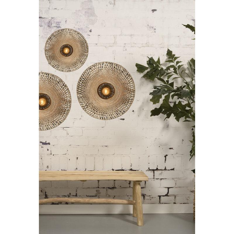 Good&Mojo-collectie Wall lamp Kalimantan bamboo flat S