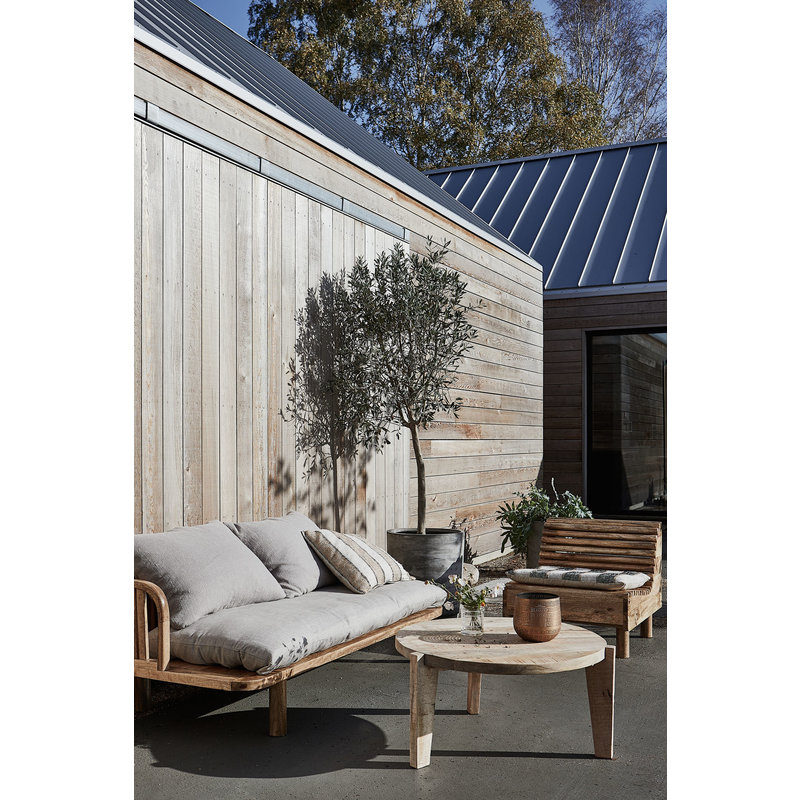 House Doctor-collectie Lounge stoel Wave naturel mango hout