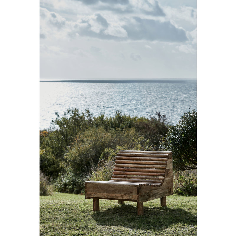 House Doctor-collectie Lounge chair Wave, Nature