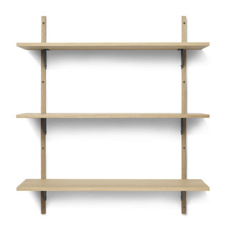 ferm LIVING Sector Shelf T/W - Oak - Black Brass