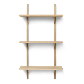 ferm LIVING Sector Shelf T/N - Oak - Brass