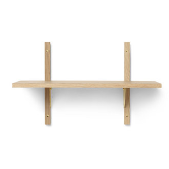 ferm LIVING Sector Shelf S/N - Oak - Brass