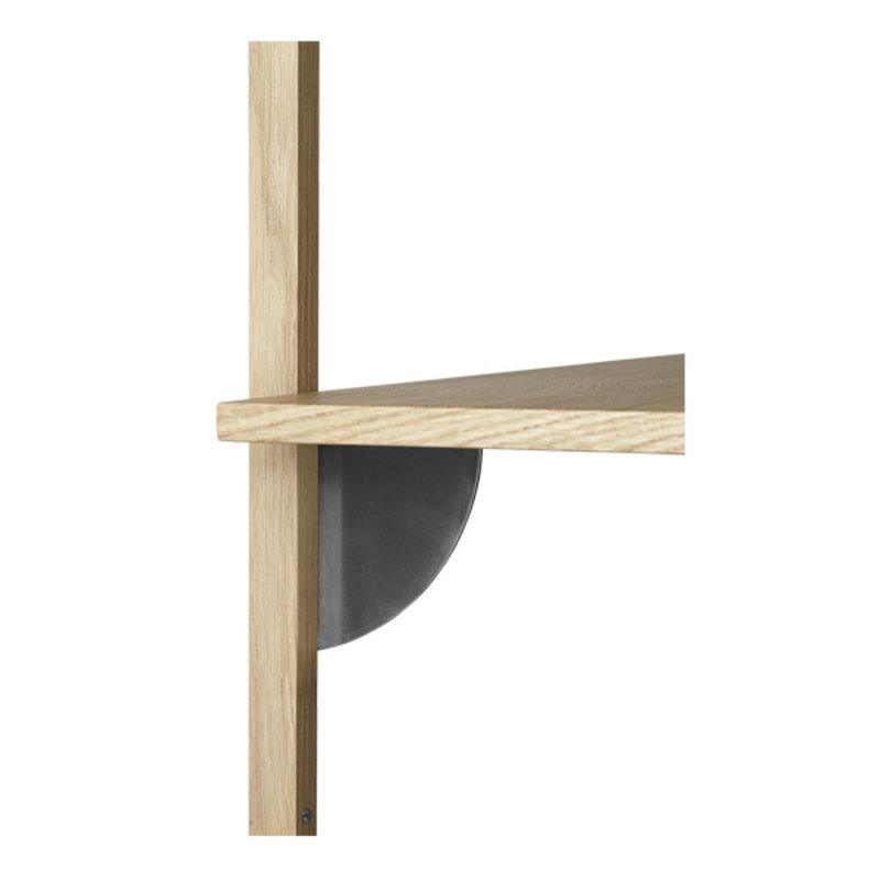 ferm LIVING-collectie Houten wandrek Sector S/N - eiken - zwart Brass
