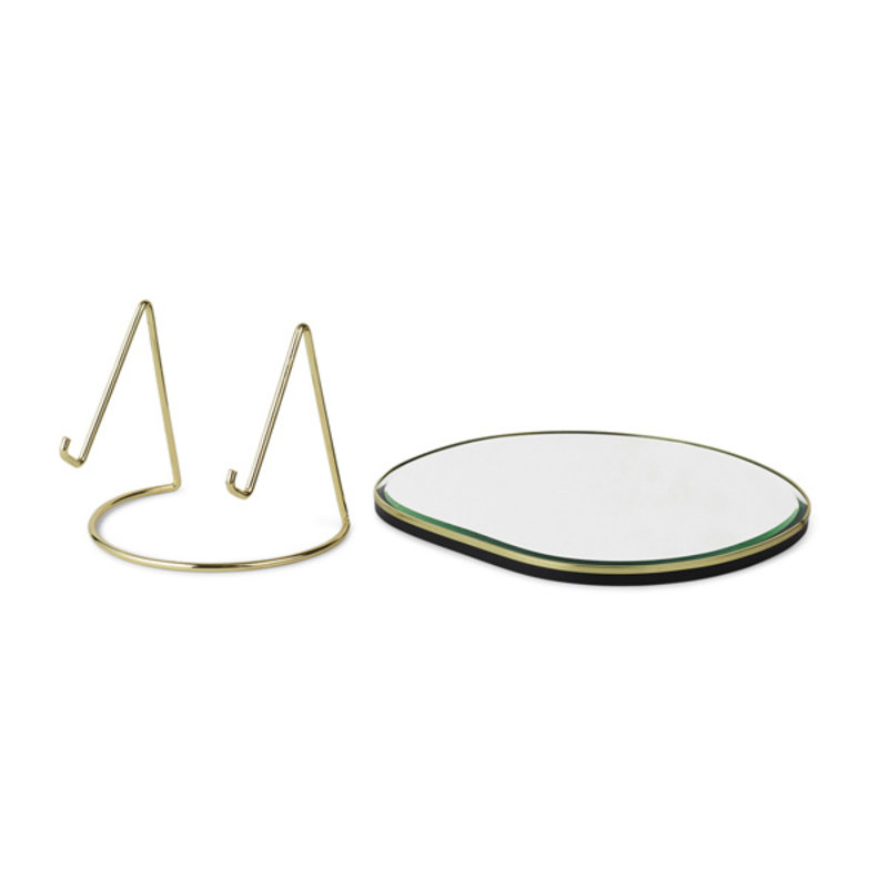 ferm LIVING-collectie Pond tafel spiegel - Brass