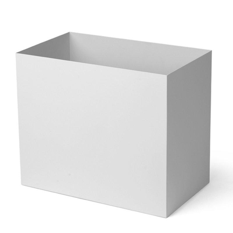 ferm LIVING-collectie Plant Box Pot Large lichtgrijs