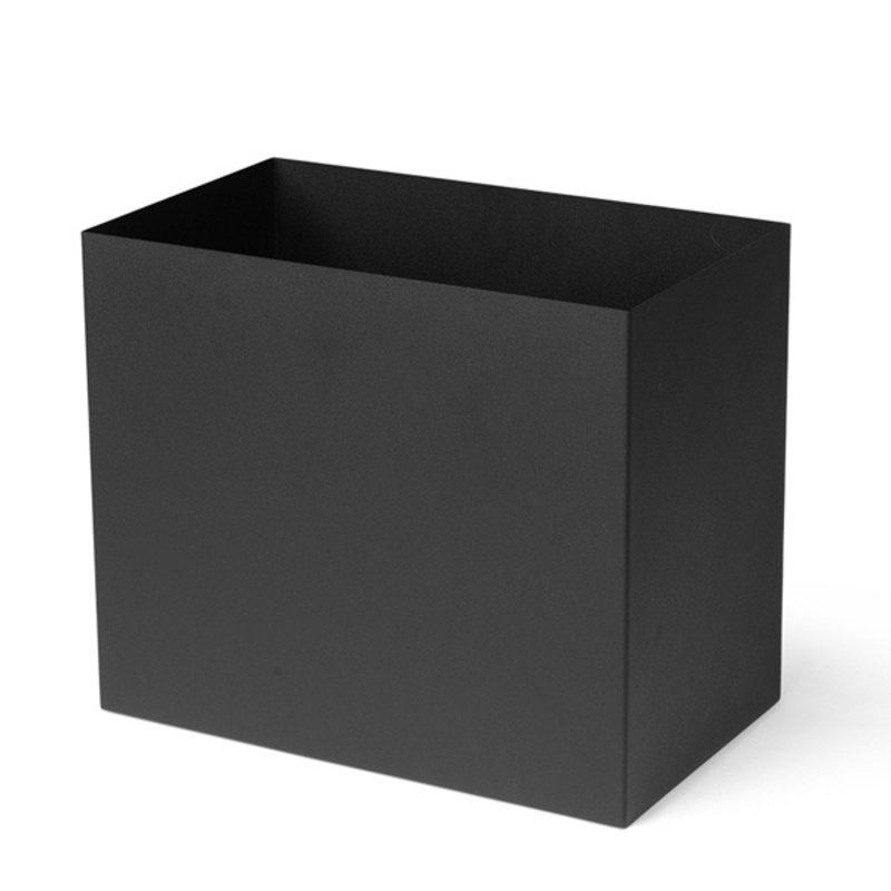 ferm LIVING-collectie Plant Box Pot Large zwart
