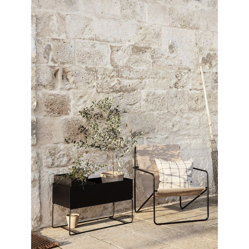 ferm LIVING-collectie Plant Box Pot Large - Black