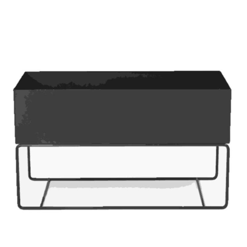 ferm LIVING-collectie Plant Box Large  zwart