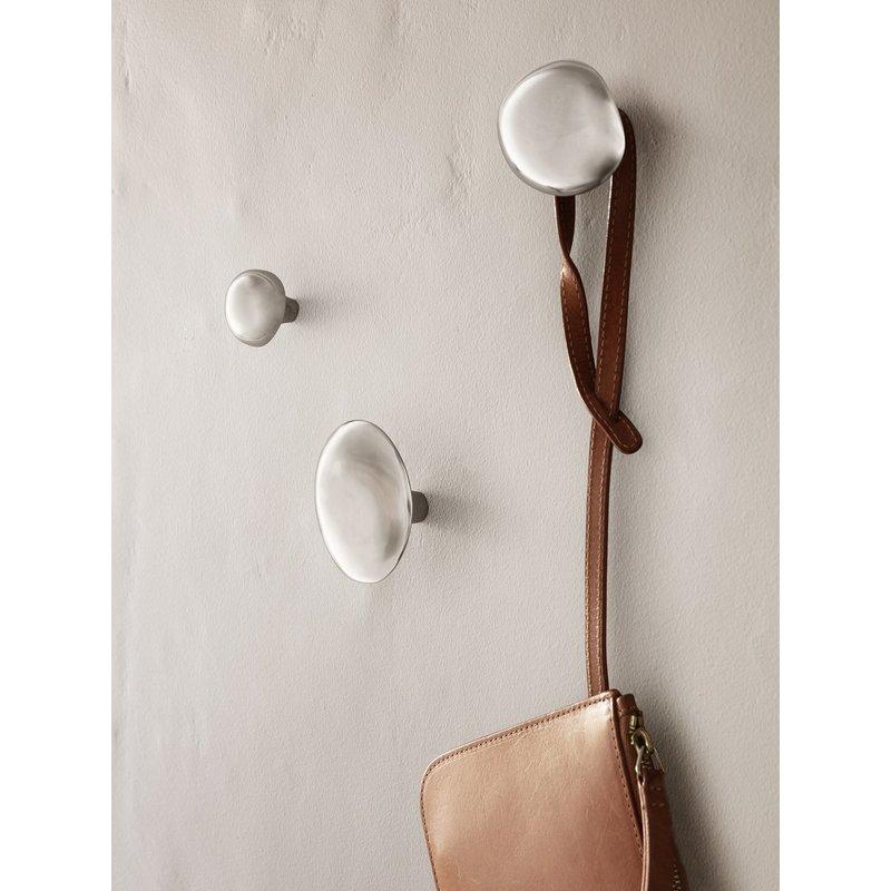 ferm LIVING-collectie Wandhaak Mushroom roestvrij staal