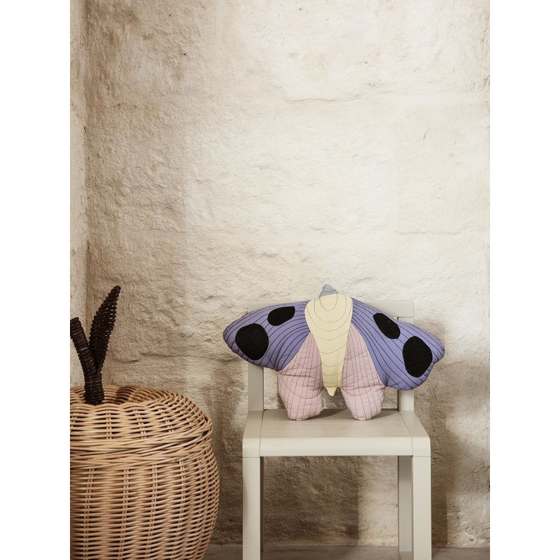 ferm LIVING-collectie Moth Quilted Cushion - Multi