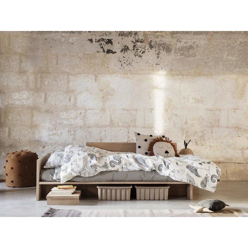 ferm LIVING-collectie Kona Bed - Natural Oak Veneer