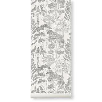 ferm LIVING Katie Scott behang - Trees  - Off-white