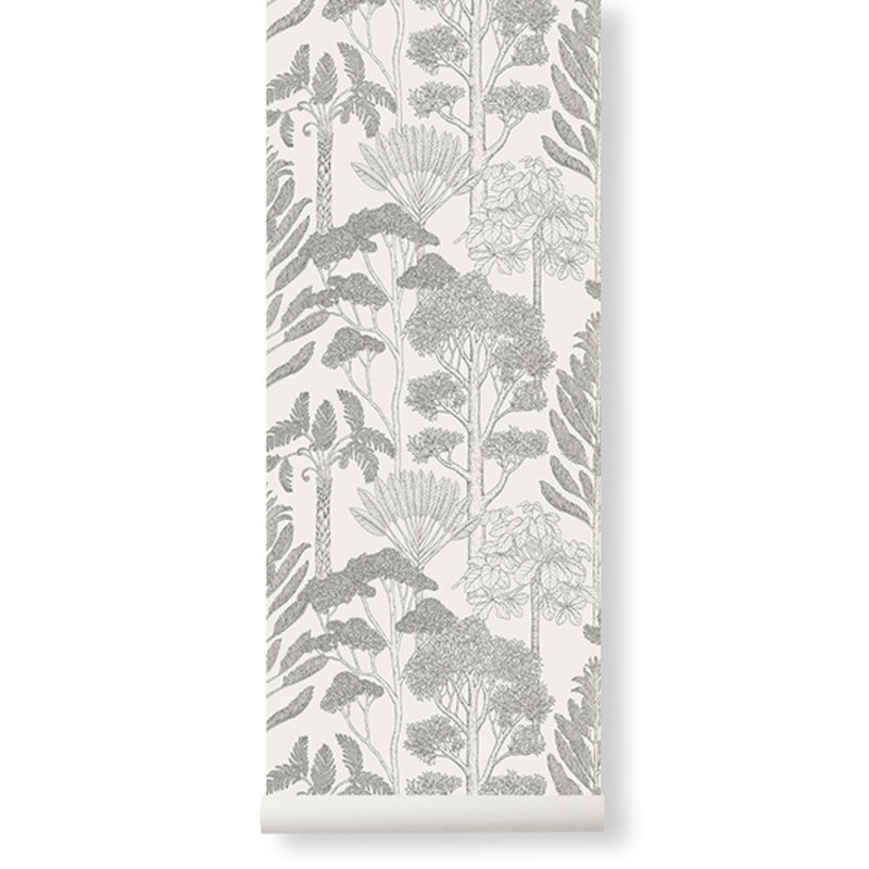 ferm LIVING-collectie Katie Scott Wallpaper - Trees  - Off-whi