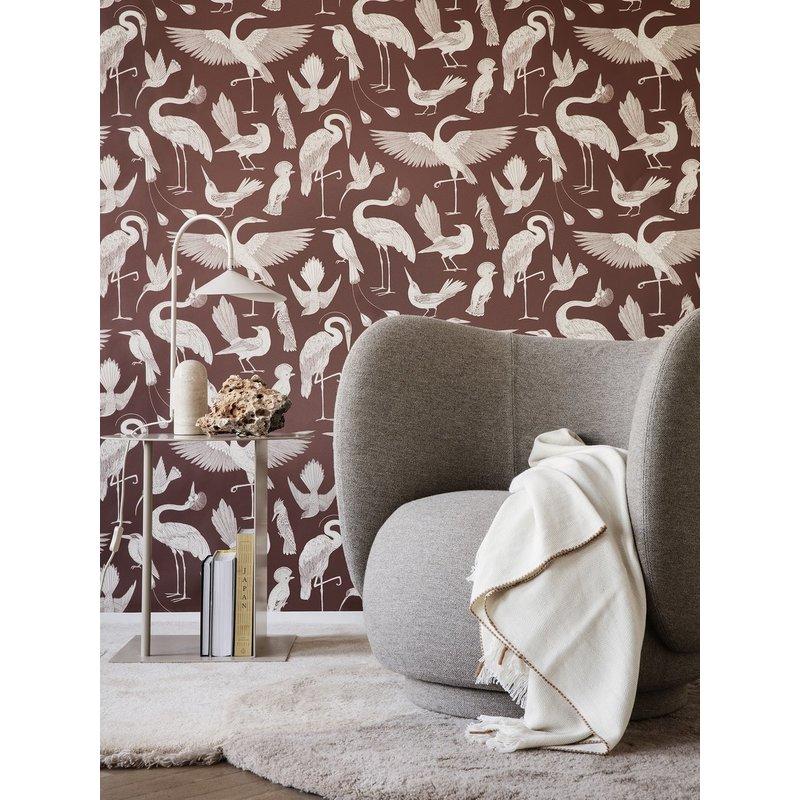 ferm LIVING-collectie Katie Scott Wallpaper - Birds - Dusty Re