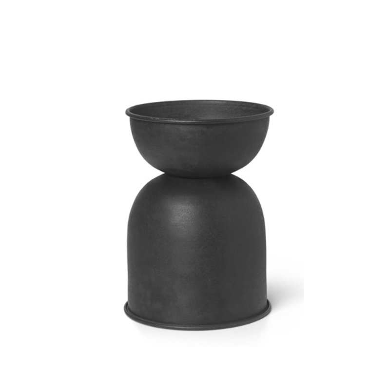 ferm LIVING-collectie Hourglass Pot - Extra Small - Black/D. G