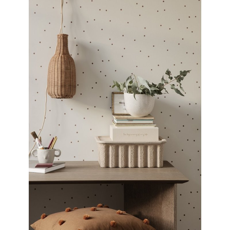 ferm LIVING-collectie Dot behang - Off-white