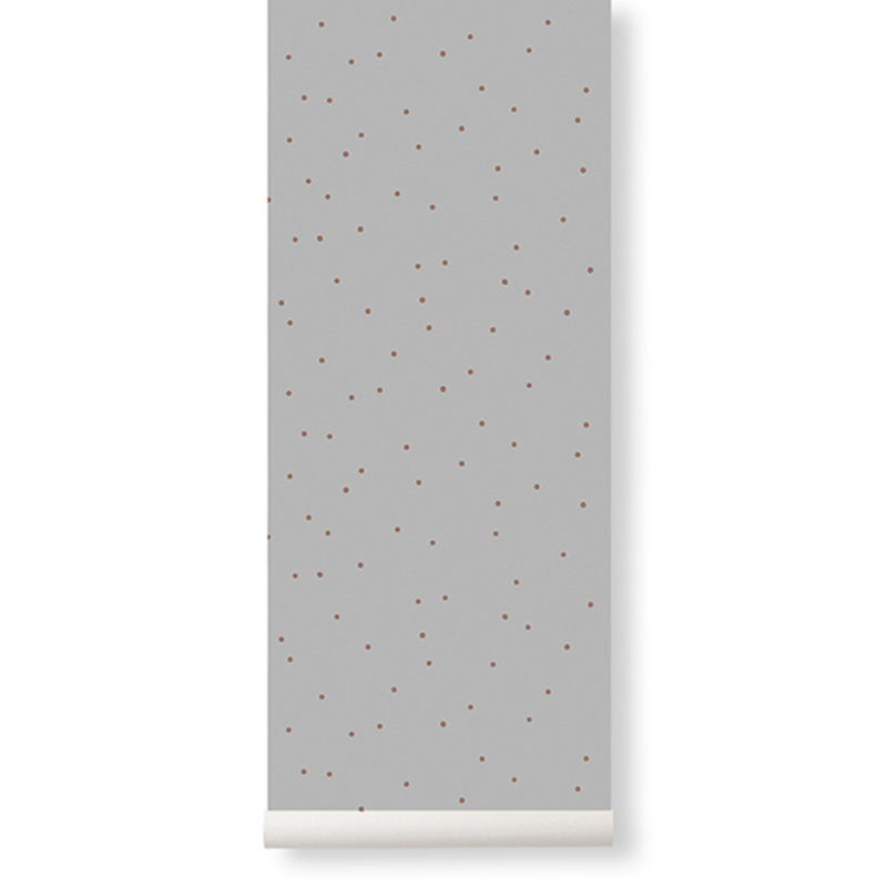 ferm LIVING-collectie Dot Wallpaper - Grey